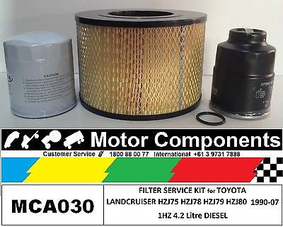 Filter Service Kit for TOYOTA LANDCRUISER HZJ75 HZJ78 HZJ79 HZJ80 1HZ 4.2L