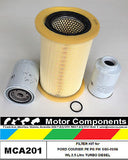 FILTER KIT Oil Air Fuel FORD COURIER PE PG PH TURBO DIESEL WL 2.5 Litre 5/00>06