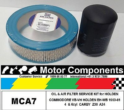 FILTER SERVICE KIT OIL & AIR  HOLDEN EH-WB COMMODORE VB VC VH 1963-1981