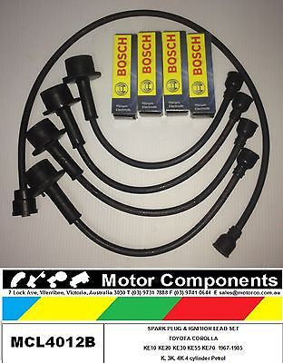 Spark Plug & Ignition Lead Set COROLLA 1100 TO 1300CC KE10 KE20 KE30 KE55 67-85