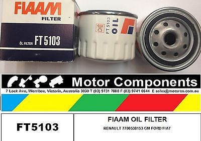 OIL FILTER  FT5103 FORD FIAT GM RENAULT