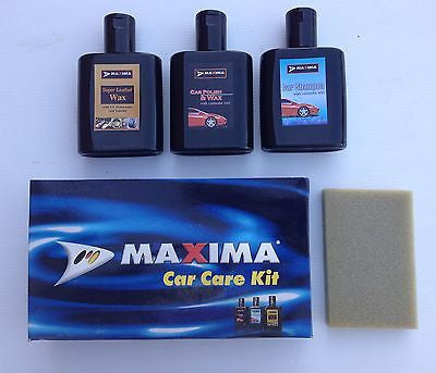 CAR CARE SET Shampoo, polish & wax, upholstery cleaner & applicator FATHERS DAY