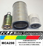 Filter Service Kit Oil Fuel Air FORD COURIER 4/96-2/99 WL 2.5L incl turbo diesel