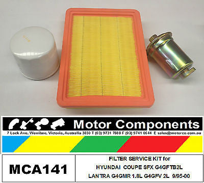 FILTER SERVICE KIT for HYUNDAI  KW LANTRA G4GMR 1.8L G4GFV 2L 9/1995 > 2000