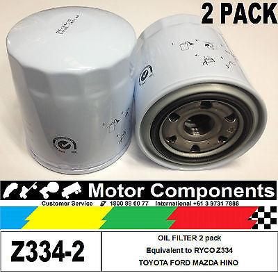 OIL FILTER 2 PACK Z334 for Mazda WL 2.5L TOYOTA 1HZ 5LE 1KZ-TE 1HD-FTE