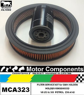 FILTER SERVICE KIT Oil Air HOLDEN KINGSWOOD 253 308 V8 1969-12/84