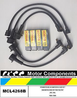 Spark Plug & Ignition Lead Set ROCKY 3YC 3YE motor 1984-90