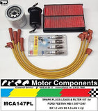 LEADS PLUG & FILTER  KIT FORD FESTIVA WB WD B5 1.5 Litre 1/97-12/97