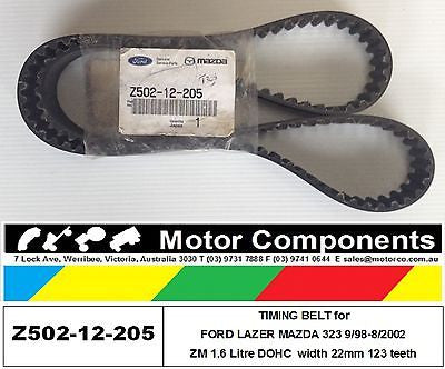 TIMING BELT MAZDA 323 BJ FORD KN KQ LASER 1.6 Litre ZM DOHC 99-02 BT308 941002