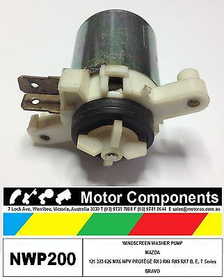WINDSCREEN WASHER PUMP MAZDA 121 323 MX6 MPV RX3/4/5/7  BRAVO B,E, T Series