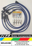 MITSUBISHI COLT RA RB RC RD RE  4G12 4G32 4G33 SPARK PLUG & LEAD SET 1981-90