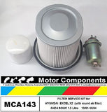 FILTER KIT for HYUNDAI EXCEL X2 G4DJ 1.5L Oil Fuel ROUND Air Filter 10/91-10/94