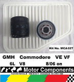 FILTER SERVICE KIT Air Oil HOLDEN Commodore VE VF 6L GEN4 8/2006 on