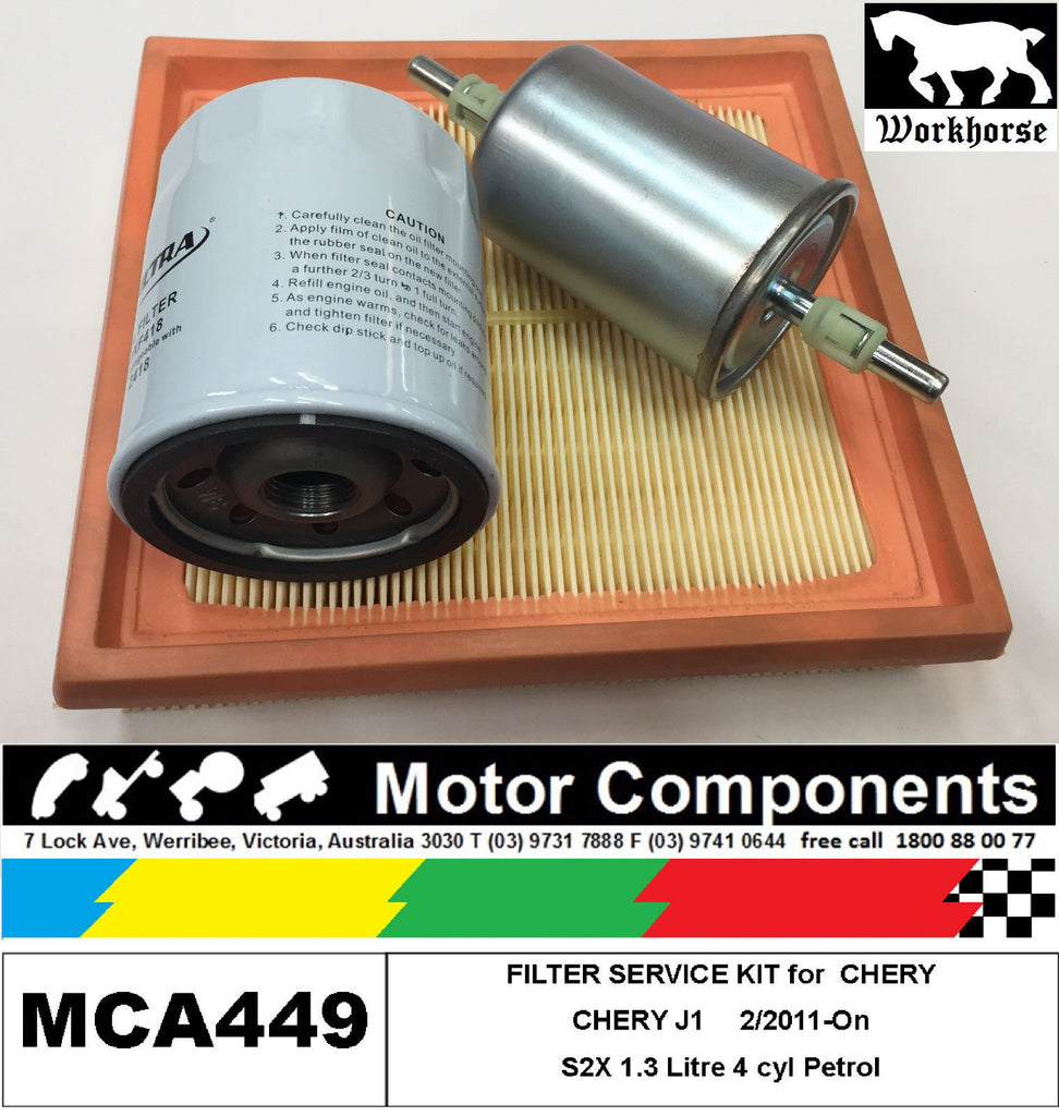 Filter Kit Oil Air Fuel For Chery J1 S2x 13l Petrol 4 2 2011 On 6 7
