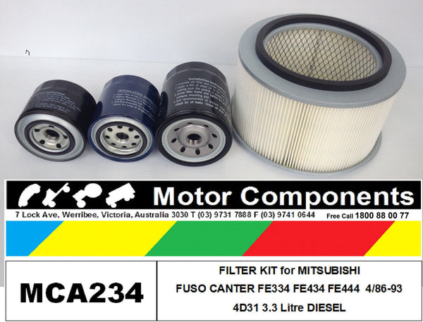 FILTER KIT for MITSUBISHI FUSO CANTER FE334 FE434 FE444 Diesel 3.3L 4D31 4/86-93