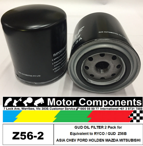 OIL FILTER 2 PACK Z56B for ASIA CHEV FORD HOLDEN MAZDA MITSUBISHI