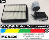 FILTER KIT Air Oil Fuel for DAIHATSU APPLAUSE A101B HD-E1 1.6L Petrol 1997 >2000