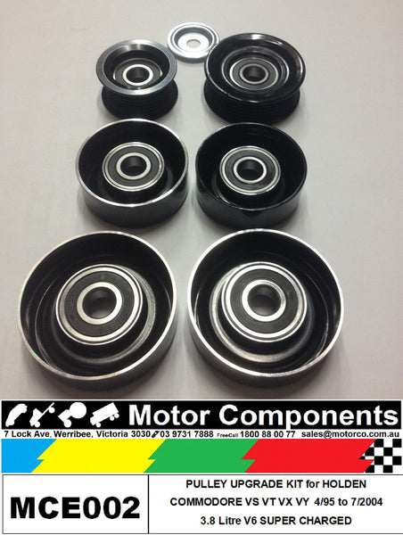 METAL PULLEY UPGRADE KIT for HOLDEN COMMODORE VS VT VX VY 3.8L V6 SUPERCHARGED