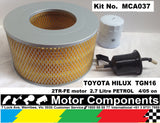TOYOTA HILUX TGN16 2TR-FE 2.7L 4 Cyl PETROL 4/05 on OIL, AIR, FUEL FILTER  KIT