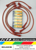 SPARK PLUG & LEAD SET HOLDEN EH HD HR HK HT HG Red Motor 149 161 186  9/63-7/71