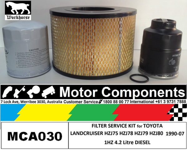 FILTER SERVICE KIT Air Oil Fuel for TOYOTA LANDCRUISER HZJ75 1HZ 4.2L 90>99