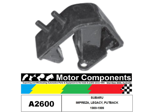 Engine Mount A2600 Rear FOR SUBARU IMPREZA, LEGACY & OUTBACK