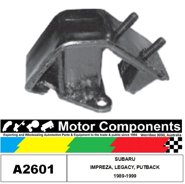Engine Mount A2601 Rear FOR SUBARU IMPREZA, LEGACY & OUTBACK