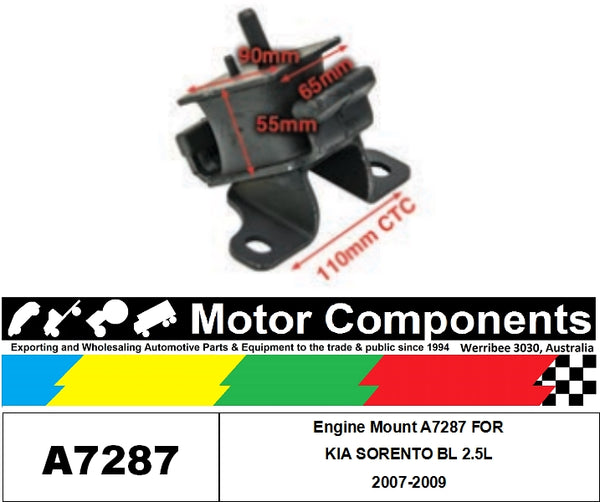 Engine Mount A7287 FOR KIA SORENTO BL 2.5L 2007-2009