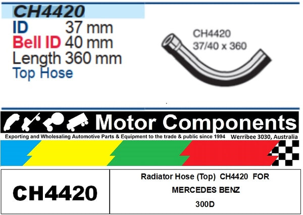 Radiator Hose (Top)  CH4420  FOR MERCEDES BENZ 300D