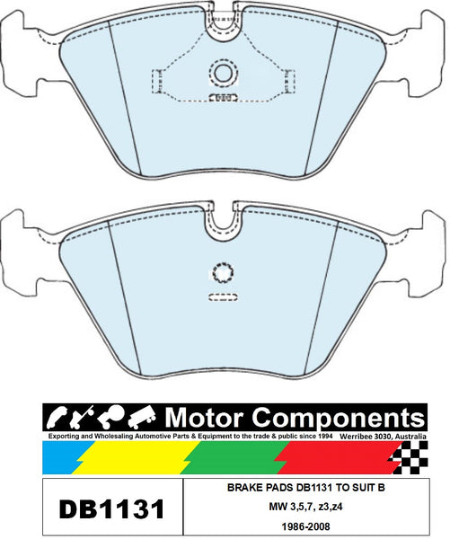 BRAKE PADS DB1131 TO SUIT BMW 3,5,7, z3,z4 1986-2008