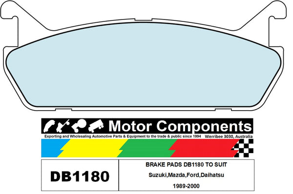 BRAKE PADS DB1180 TO SUIT Suzuki,Mazda,Ford,Daihatsu 1989-2000