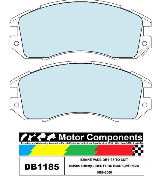 BRAKE PADS DB1185 TO SUIT Subaru Liberty,LIBERTY OUTBACK,IMPREZA 1989-2000