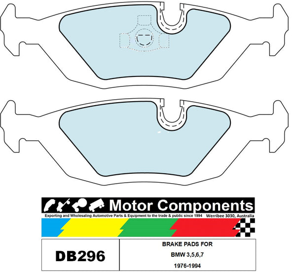 BRAKE PADS DB296 TO SUIT BMW 3,5,6,7 1976-1994