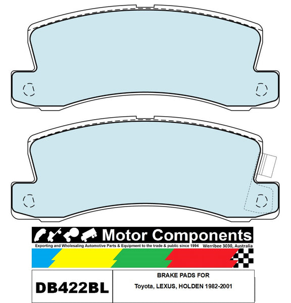 bRAKE PADS DB422BL TO SUIT Toyota, LEXUS, HOLDEN 1982-2001