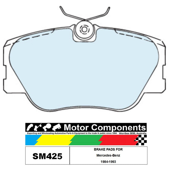 BRAKE PADS SM425 TO SUIT Mercedes-Benz 1984-1993