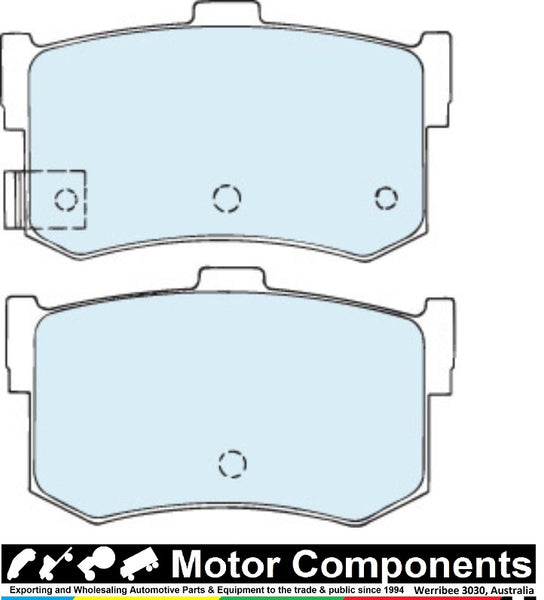 BRAKE PADS FDB0437M TO SUIT Hyundai SONATA 1983-2005