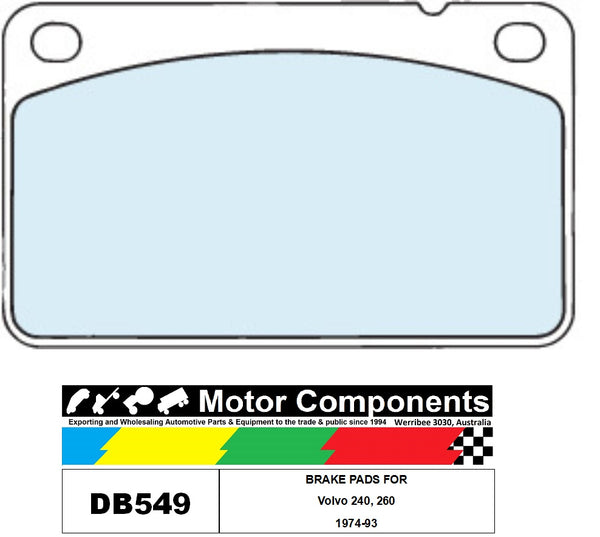 BRAKE PADS DB549 TO SUIT Volvo 240, 260 1974-93