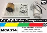 FILTER SERVICE KIT for TOYOTA CAMRY ASV50R 2AR-FE 2.5L PETROL 2011 >