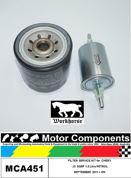 FILTER  SERVICE KIT for CHERY J3 M1X SQRF 1.6L Petrol	09/2011 > ON