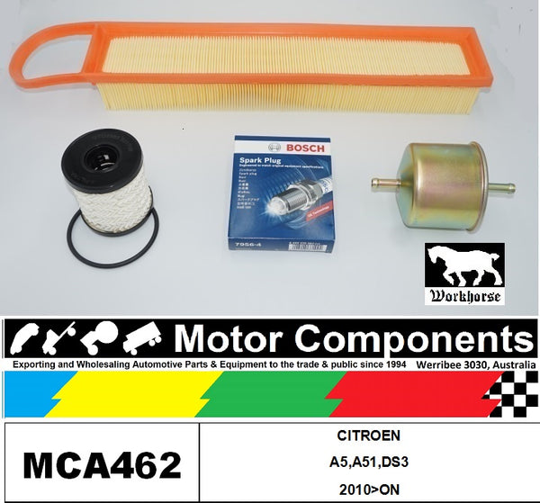 SPARK PLUG & FILTER SERVICE KIT for CITROEN A5,A51,DS3 2010>ON