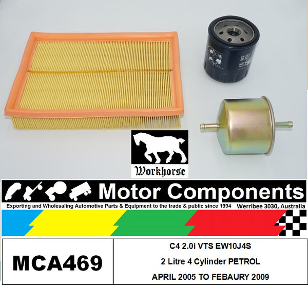 FILTER SERVICE KIT for CITROEN C4 2.0i VTS EW10J4S 2L Petrol 4/05 > 2/09