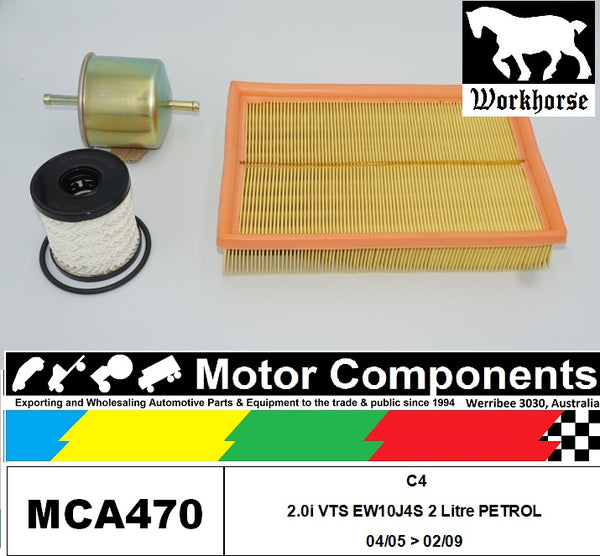 FILTER SERVICE KIT for CITROEN C4 2.0i VTS EW10J4S 2L Petrol 04/05 > 02/09
