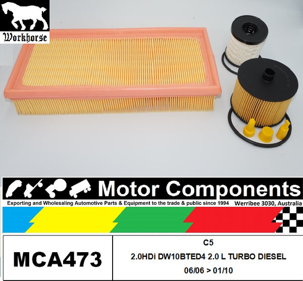 FILTER SERVICE KIT for CITROEN C5 2.0HDi DW10BTED4 2L TURBO DIESEL 6/06 > 1/2010