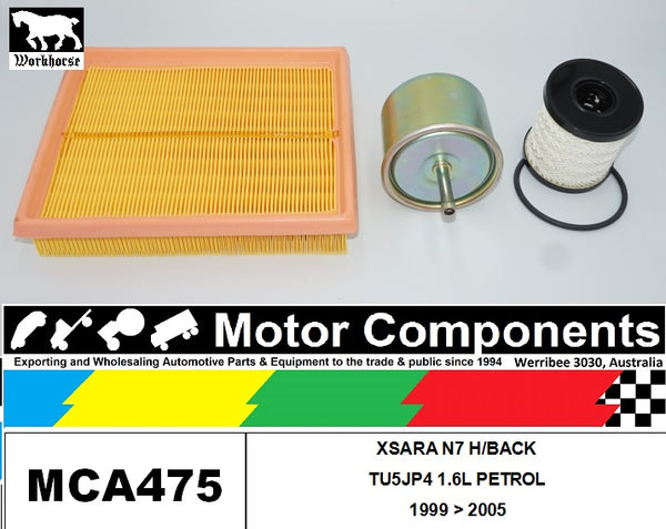 FILTER SERVICE KIT for CITROEN XSARA N7 H/BACK TU5JP4 1.6L PETROL 1999 > 2005