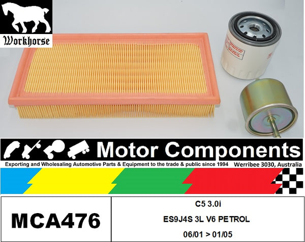 FILTER SERVICE KIT for CITROEN C5 3.0i ES9J4S 3L V6 PETROL 06/01 > 01/05