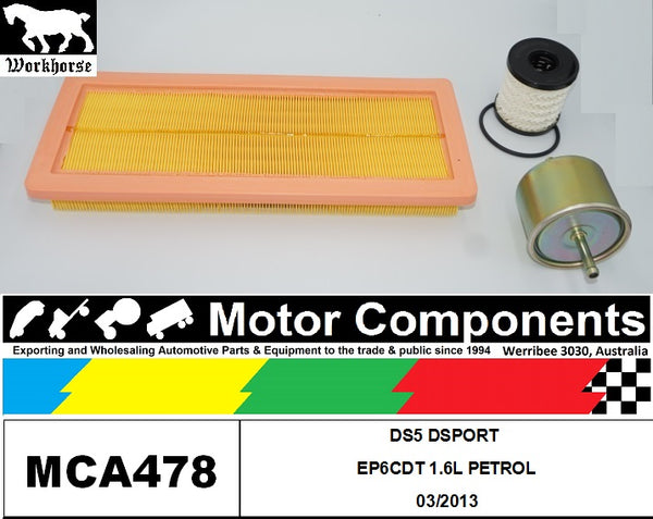 FILTER SERVICE KIT for CITROEN DS5 DSPORT EP6CDT 1.6L PETROL 03/2013