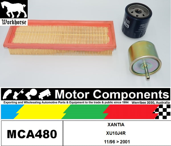 FILTER SERVICE KIT for CITROEN XANTIA  XU10J4R  2L PETROL 11/96 > 2001