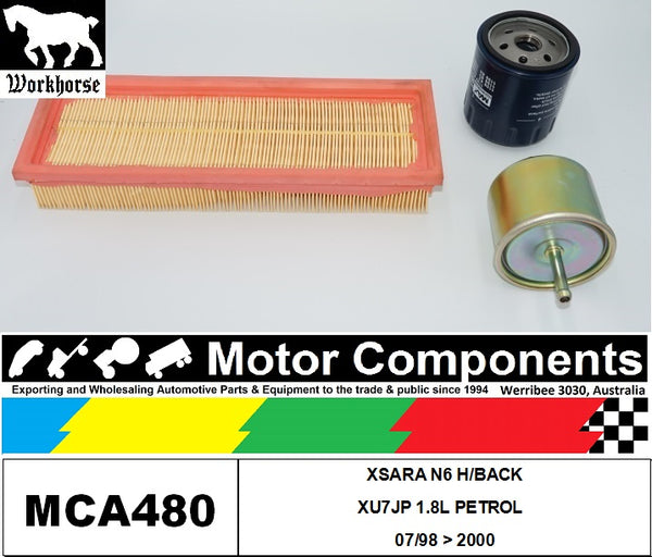 FILTER SERVICE KIT for CITROEN XSARA N6 H/BACK XU7JP 1.8L PETROL 07/98 > 2000