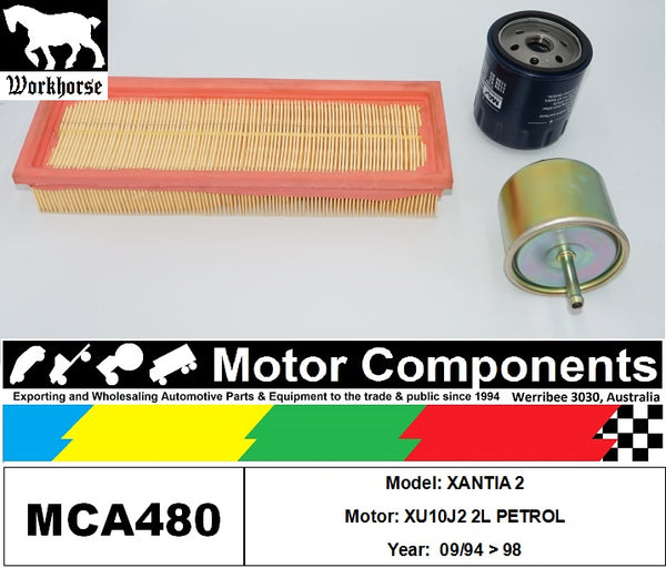 FILTER SERVICE KIT for CITROEN XANTIA 2 XU10J2 2L PETROL 09/94 > 98