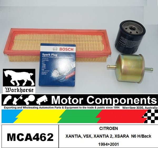 SPARK PLUGS & FILTER SERVICE KIT for CITROEN XANTIA, VSX, XANTIA 2, XSARA N6 H/Back 1994>2001